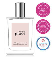 philosophy, amazing grace spray fragrance, 2018 total beauty award winner, 2018 customer choice QVC award winner, main