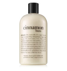 cinnamon buns shampoo, shower gel & bubble bath