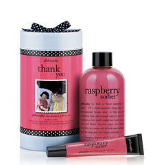 thank you raspberry sorbet gift set