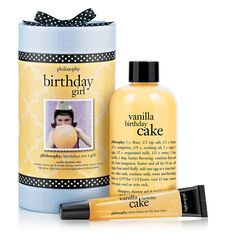 birthday girl vanilla birthday cake gift set