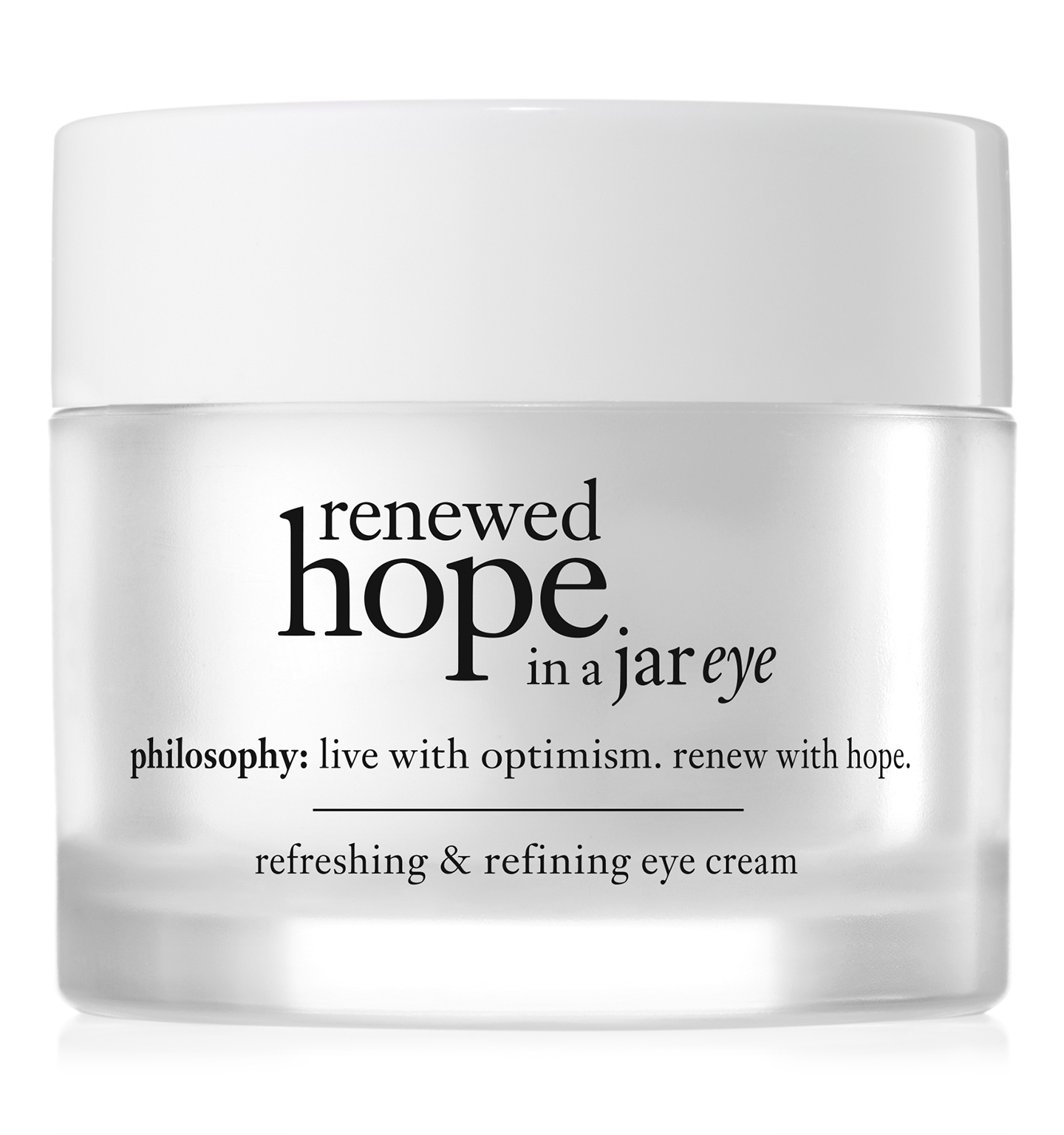philosophy, renewed hope in a jar eye