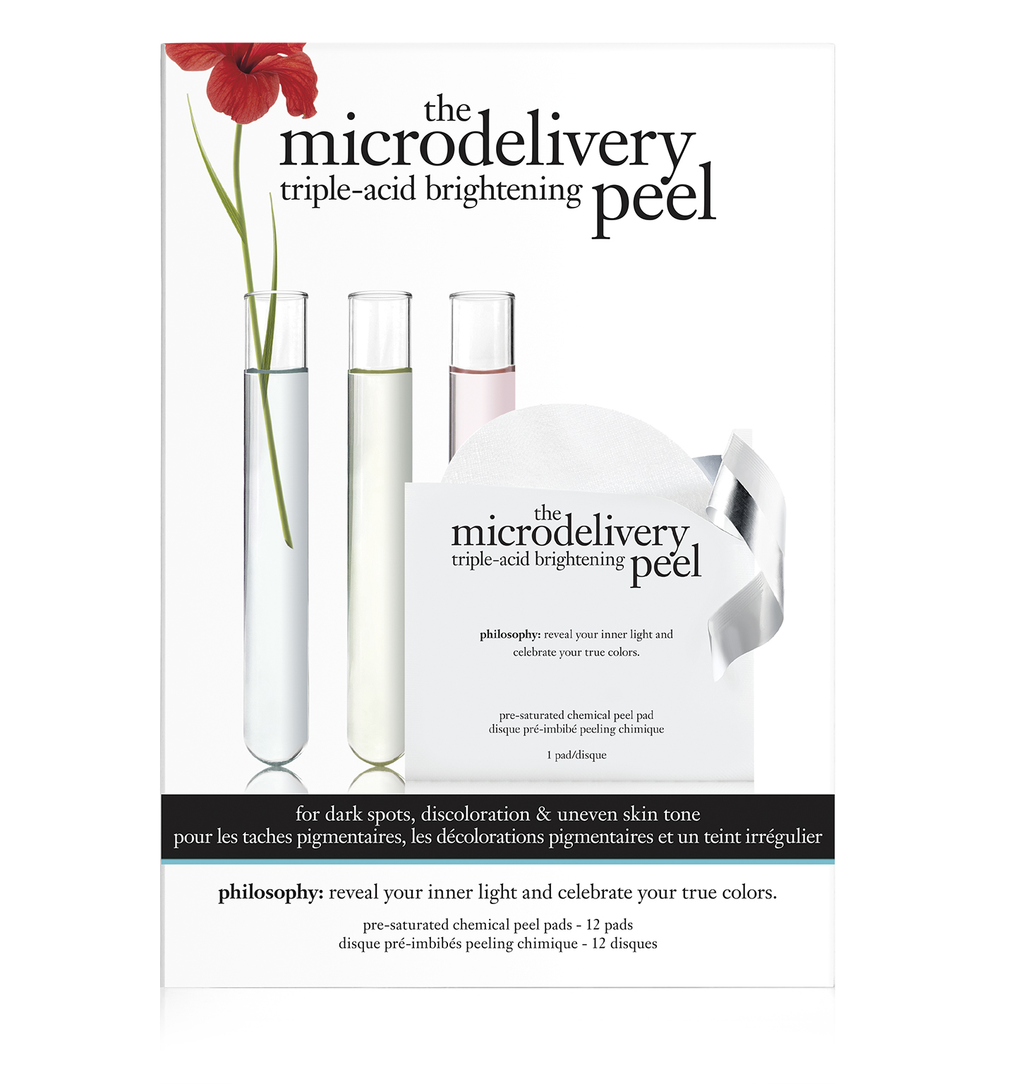 philosophy, microdelivery triple-acid brightening peel pads