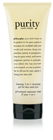 purity made simple foaming 3-in-1 cleansing gel for face and eyes